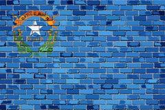 Σημαία της Νεβάδας σε έναν τουβλότοιχο ελεύθερη απεικόνιση δικαιώματος