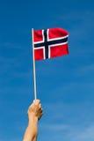 Σημαία της Νορβηγίας. Στοκ Φωτογραφίες