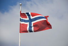 Σημαία της Νορβηγίας Στοκ φωτογραφίες με δικαίωμα ελεύθερης χρήσης