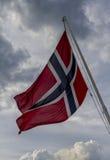 Σημαία της Νορβηγίας στοκ φωτογραφία με δικαίωμα ελεύθερης χρήσης