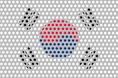 Σημαία της Νότιας Κορέας στο μέταλλο Στοκ φωτογραφία με δικαίωμα ελεύθερης χρήσης
