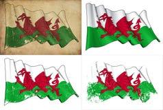 Σημαία της Ουαλίας Στοκ εικόνες με δικαίωμα ελεύθερης χρήσης