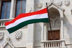 Σημαία της Ουγγαρίας Στοκ φωτογραφία με δικαίωμα ελεύθερης χρήσης