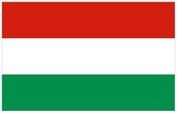 Σημαία της Ουγγαρίας Στοκ Φωτογραφία