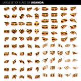 Σημαία της Ουγκάντας, διανυσματική απεικόνιση Στοκ φωτογραφίες με δικαίωμα ελεύθερης χρήσης