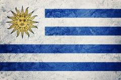 Σημαία της Ουρουγουάης Grunge Σημαία της Ουρουγουάης με τη σύσταση grunge Στοκ Εικόνες