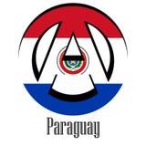 Σημαία της Παραγουάης του κόσμου υπό μορφή σημαδιού της αναρχίας απεικόνιση αποθεμάτων