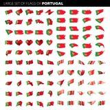 Σημαία της Πορτογαλίας, διανυσματική απεικόνιση Στοκ φωτογραφία με δικαίωμα ελεύθερης χρήσης