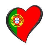 Σημαία της Πορτογαλίας μέσα στην καρδιά Διαγωνισμός 2018 τραγουδιού Eurovision στο λιμένα ελεύθερη απεικόνιση δικαιώματος