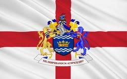Σημαία της πόλης Σάντερλαντ, Αγγλία στοκ εικόνες