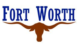 Σημαία της πόλης Fort Worth στο Τέξας, ΗΠΑ Στοκ Φωτογραφίες
