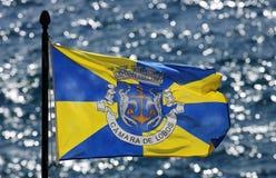 Σημαία της πόλης Camara de Lobos - Μαδέρα Στοκ εικόνα με δικαίωμα ελεύθερης χρήσης