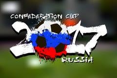 Σημαία της Ρωσίας ως αφηρημένη σφαίρα ποδοσφαίρου Στοκ εικόνα με δικαίωμα ελεύθερης χρήσης