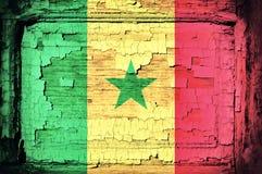 Σημαία της Σενεγάλης Στοκ εικόνα με δικαίωμα ελεύθερης χρήσης
