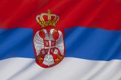 Σημαία της Σερβίας - της Ευρώπης Στοκ Εικόνες