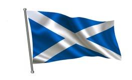 Σημαία της Σκωτίας Μια σειρά σημαιών ` του κόσμου ` Η χώρα - σημαία της Σκωτίας διανυσματική απεικόνιση