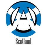 Σημαία της Σκωτίας του κόσμου υπό μορφή σημαδιού της αναρχίας ελεύθερη απεικόνιση δικαιώματος