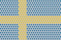Σημαία της Σουηδίας στο μέταλλο Στοκ Εικόνες