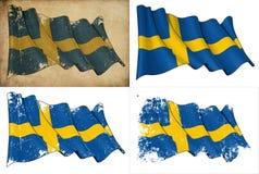 Σημαία της Σουηδίας Στοκ φωτογραφίες με δικαίωμα ελεύθερης χρήσης