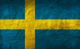 Σημαία της Σουηδίας σε χαρτί Στοκ Εικόνες