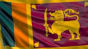 Σημαία της Σρι Λάνκα τρισδιάστατη απεικόνιση της κυματίζοντας σημαίας της Σρι Λάνκα ελεύθερη απεικόνιση δικαιώματος