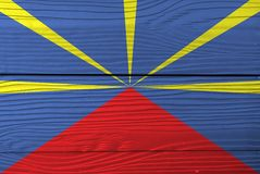 Σημαία της συγκέντρωσης στο ξύλινο υπόβαθρο τοίχων Σύσταση σημαιών συγκέντρωσης Grunge στοκ φωτογραφία με δικαίωμα ελεύθερης χρήσης