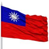 Σημαία της Ταϊβάν στο κοντάρι σημαίας Στοκ φωτογραφίες με δικαίωμα ελεύθερης χρήσης