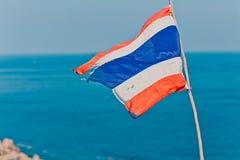 Σημαία της Ταϊλάνδης Στοκ φωτογραφίες με δικαίωμα ελεύθερης χρήσης