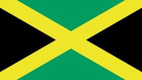 Σημαία της Τζαμάικας που απομονώνεται απεικόνιση αποθεμάτων