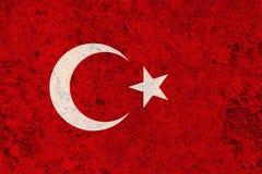 Σημαία της Τουρκίας στο σκουριασμένο μέταλλο Στοκ φωτογραφία με δικαίωμα ελεύθερης χρήσης