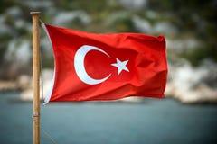 Σημαία της Τουρκίας Στοκ εικόνα με δικαίωμα ελεύθερης χρήσης