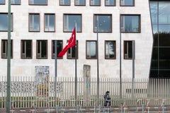 Σημαία της Τουρκικής Δημοκρατίας στοκ εικόνες