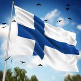 σημαία της Φινλανδίας διανυσματική απεικόνιση