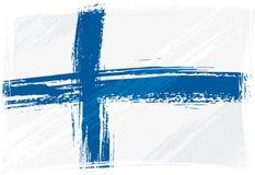 σημαία της Φινλανδίας grunge Στοκ Εικόνες