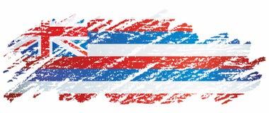 Σημαία της Χαβάης, κράτος της Χαβάης, Ηνωμένες Πολιτείες της Αμερικής Πρότυπο για το σχέδιο βραβείων, ένα επίσημο έγγραφο με τη σ στοκ εικόνες