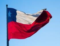 σημαία της Χιλής Στοκ Εικόνα