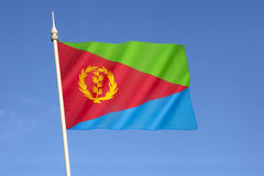 σημαία της Eritrea Στοκ εικόνες με δικαίωμα ελεύθερης χρήσης
