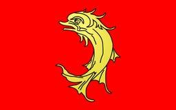 Σημαία της Loire, Γαλλία στοκ εικόνες