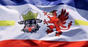 Σημαία της Mecklenburg-$l*Vorpommern, λεπτομέρεια στοκ εικόνα με δικαίωμα ελεύθερης χρήσης