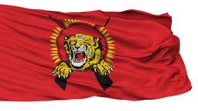 Σημαία τιγρών του Ταμίλ, που απομονώνεται στο λευκό διανυσματική απεικόνιση