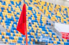 Σημαία τομέων στη γωνία τομέων Στοκ Εικόνα