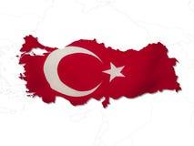σημαία Τουρκία Στοκ εικόνες με δικαίωμα ελεύθερης χρήσης