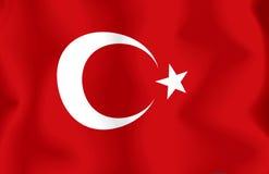 σημαία Τουρκία Στοκ Εικόνα