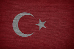 Σημαία Τουρκία Στοκ Φωτογραφίες