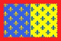 Σημαία του Άγιος-αλευριού στο Cantal της περιοχής auvergne-Ροδανός-Alpes στη Γαλλία απεικόνιση αποθεμάτων
