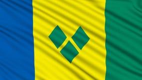 Σημαία του Άγιου Βικεντίου και Γρεναδίνες διανυσματική απεικόνιση