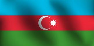 Σημαία του Αζερμπαϊτζάν - διανυσματική απεικόνιση Στοκ εικόνες με δικαίωμα ελεύθερης χρήσης