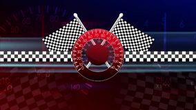 Σημαία του αυτοκινήτου Formula 1 απόθεμα βίντεο