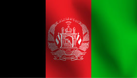 Σημαία του Αφγανιστάν - διανυσματική απεικόνιση Στοκ φωτογραφία με δικαίωμα ελεύθερης χρήσης