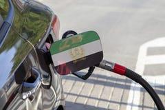 Σημαία του Αφγανιστάν στο χτύπημα υλικών πληρώσεως καυσίμων αυτοκινήτων ` s στοκ εικόνες με δικαίωμα ελεύθερης χρήσης